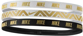 Nike Metallic Haarband Damen weiß