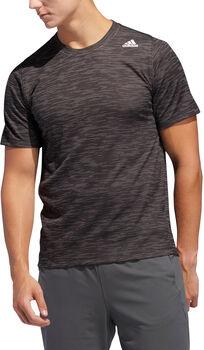 ADIDAS FreeLift Tech Fitted Striped Heathered T-Shirt Herren schwarz