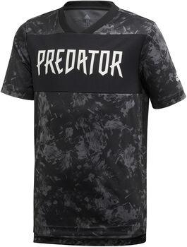 adidas Predator Allover Print Fußballtrikot Jungen schwarz
