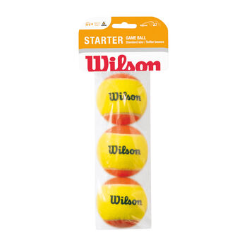 Wilson Starter Game 3-er Tennisbälle, Stufe 2 weiß