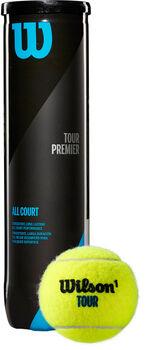 Wilson Premier Tour All CT Tennisbälle schwarz