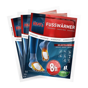 The Heat Company Fußwärmer 3er Pack weiß