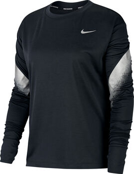 Nike Midlayer Runway Langarmshirt Damen schwarz