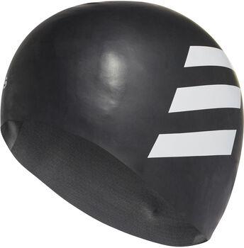 adidas 3-Streifen Badekappe schwarz