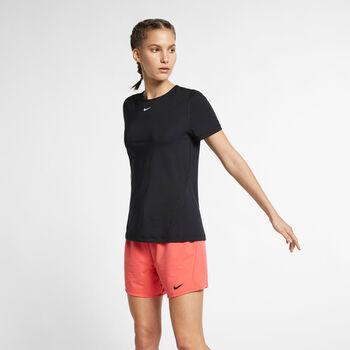 Nike Pro SS All Over T-Shirt Damen schwarz