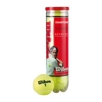 Wilson  ship 4er Dose Tennisbälle gelb