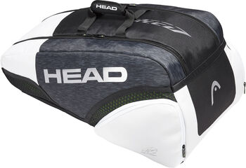 Head Djokovic 9R Supercombi Tennistasche grau