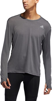 adidas Own the Run Langarmshirt Herren grau