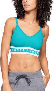 Under Armour Seamless Longline Sport-BH Damen blau
