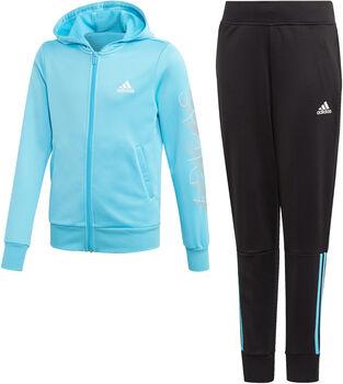 adidas Hooded Polyester Trainingsanzug Mädchen blau