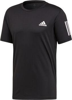 ADIDAS 3-STREIFEN CLUB Tennisshirt Herren schwarz