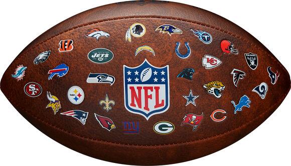 NFL Off Throwback 32 Team Logo Football