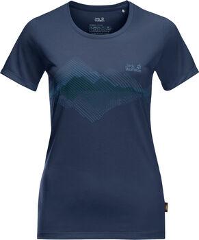 Jack Wolfskin Crosstrail Graphic T-Shirt Damen blau