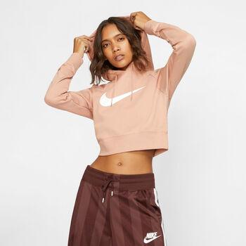 Nike W Nsw Swsh Hoodie Crop Kapuzensweater Damen pink