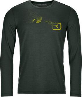 185 Merino Logo Spray Langarmshirt