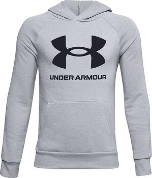 Under Armour Rival Fleece Big Logo Hoodie grau