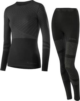 LÖFFLER Transtex® Warm Hybrid Unterwäschenset Damen schwarz