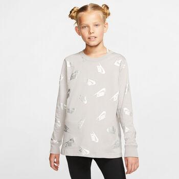 Nike Sportswear Langarmshirt Mädchen grau