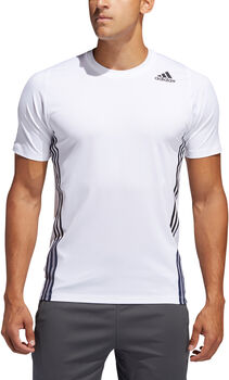 adidas FreeLift 3-Streifen T-Shirt Herren weiß