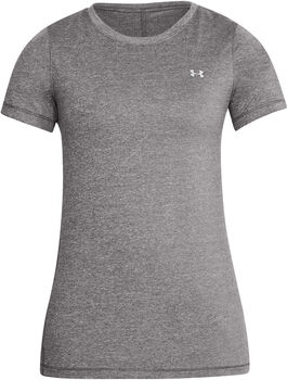 Under Armour HG Armour Crew T-Shirt Damen grau