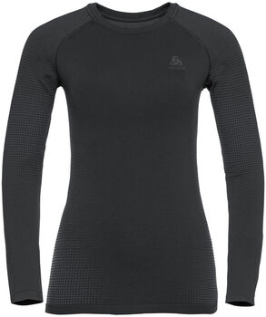 Odlo PERFORMANCE WARM ECO Langarmshirt Damen schwarz