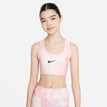 Nike Swoosh AOP Sport-BH Mädchen pink