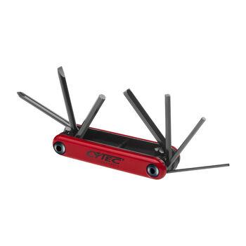 Cytec Inbusschlüssel- und Schraubenzieher-Set rot