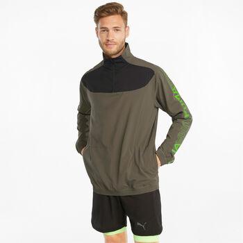 Puma Train Woven 12. Sweater mit 1/2 Zipp Herren grün