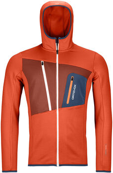 ORTOVOX Fleece Grid Fleecejacke Herren orange