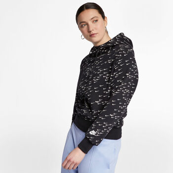 Nike Sportswear AOP Kapuzensweater  schwarz