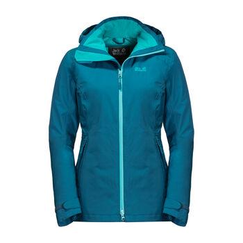 Jack Wolfskin Karelia Trail Wanderjacke  Damen blau