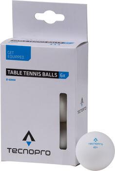 TECNOPRO 0* Tischtennisbälle weiß