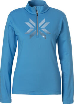 McKINLEY Daria II Langarmshirt mit Half Zip Damen blau