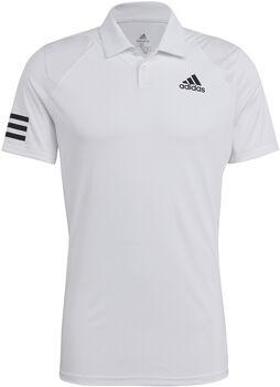 adidas Club 3-Streifen T-Shirt Herren weiß
