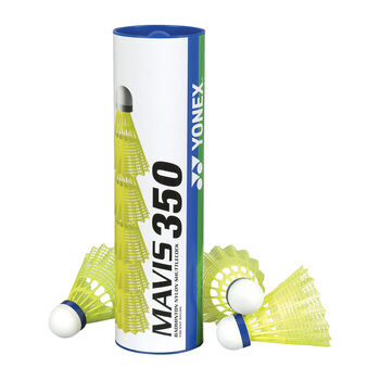 Yonex Mavis 350 6er Pack Badmintonbälle gelb