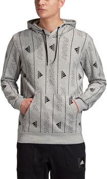 adidas  MHS GFX PO Q3Hr. Kapuzensweater Herren grau