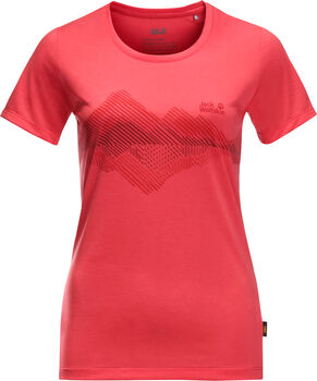 Jack Wolfskin Cross.Graphic T-Shirt Damen rot