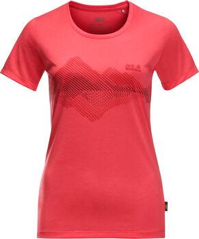 Jack Wolfskin Cross.Graphic T-Shirt Damen rot