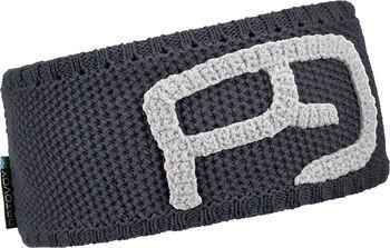 ORTOVOX Rock'n'Wool Logo-Stirnband schwarz