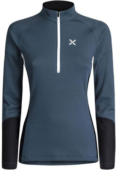Montura Thermic 3 Maglia Fleece Langarmshirt mit Halfzip Damen blau