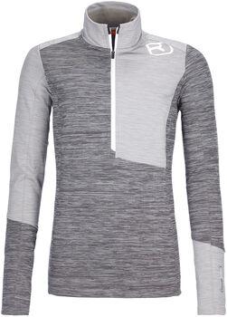 ORTOVOX Fleece Light Langarmshirt mit Halfzip Damen grau