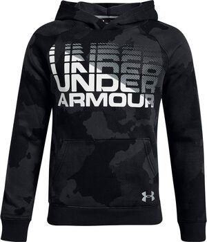 Under Armour Rival Wordmark Kapuzensweater Jungen schwarz