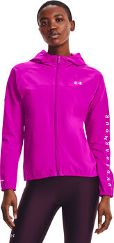 Under Armour Woven Hooded Trainingsjacke Damen pink