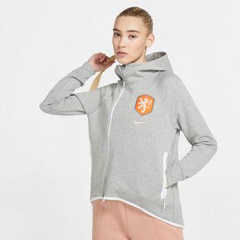 Nike KNVNsw TCH FLC C Damen grau