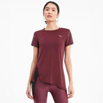 Puma Studio Metallic T-Shirt Damen rot