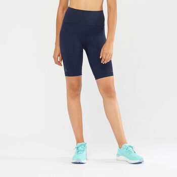 Salomon Elevate Move On kurze Lauftights Damen blau