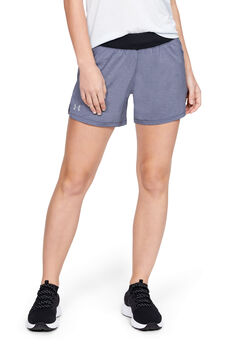 "Under Armour LAUNCH SW ""GO LONG"" Shorts Damen schwarz"