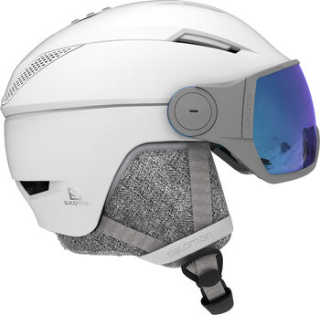 Salomon Icon² Visor Skihelm weiß