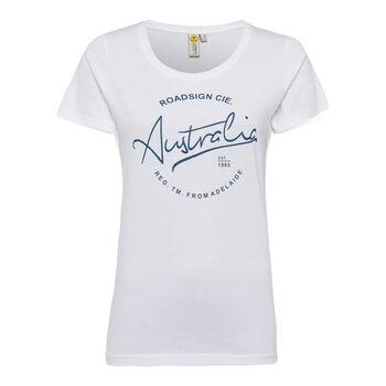 Roadsign Modern Basic Shirt kurzarm Damen weiß