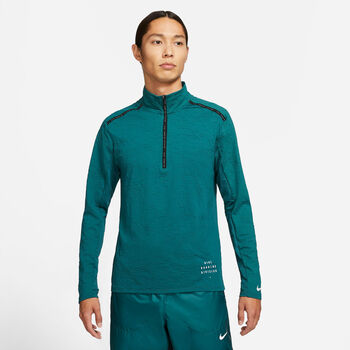 Nike Dri-FIT Element Run Division Langarmshirt Herren blau